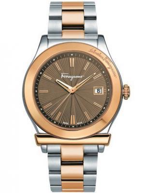 Часы Salvatore Ferragamo. Цвет: коричневый