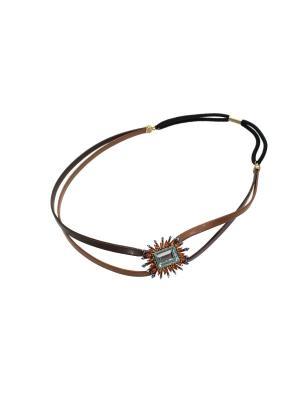 Греческий ободок Lastoria. Цвет: коричневый