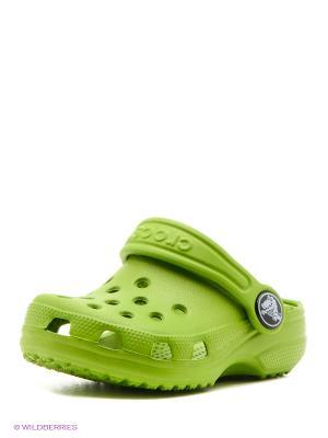 Сабо CROCS. Цвет: светло-зеленый