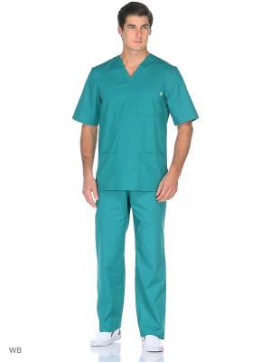 Брюки медицинские Med Fashion Lab. Цвет: темно-зеленый