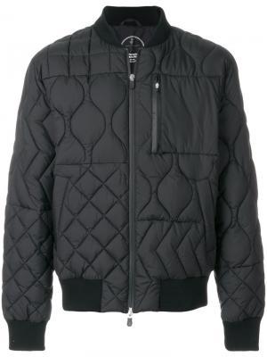 Стеганая куртка-бомбер Save The Duck. Цвет: чёрный