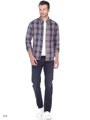 Рубашка SLIM BUTTON DOWN LEE. Цвет: синий, темно-коричневый
