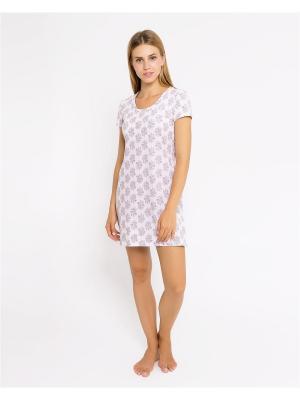 Ночная сорочка Mark Formelle. Цвет: бледно-розовый, розовый, светло-серый
