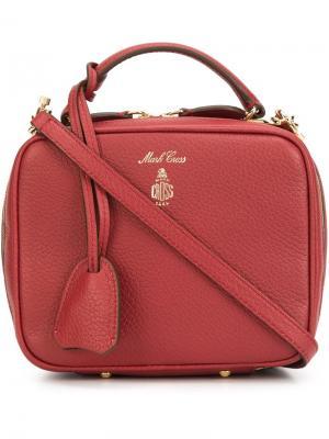 Zip up tote bag Mark Cross. Цвет: красный