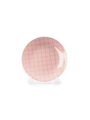 Тарелка 27 см TUNISIE PORCELAINE. Цвет: бледно-розовый