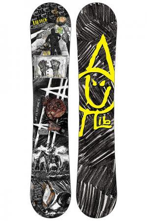 Сноуборд  Box Scratcher Btx Ast Lib Tech. Цвет: черный,серый,белый,желтый