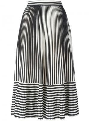 Плиссированная юбка в полоску Marco De Vincenzo. Цвет: чёрный