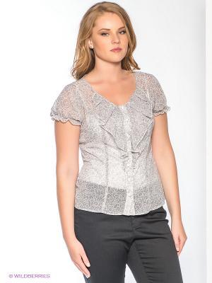 Блузка Forus. Цвет: серый