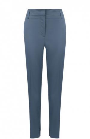 Укороченные брюки прямого кроя со стрелками Dorothee Schumacher. Цвет: голубой