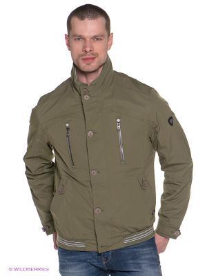 Куртка Gate One. Цвет: оливковый