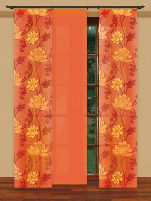 Гардина Haft. Цвет: оранжевый, коричневый