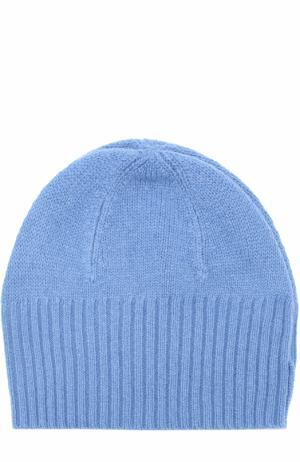 Кашемировая шапка бини Allude. Цвет: синий