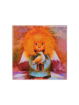 Магнит Ангел хранитель мира Artangels. Цвет: голубой, оранжевый, розовый