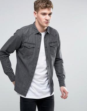 Diesel Узкая джинсовая рубашка NEW-SONORA-E. Цвет: черный