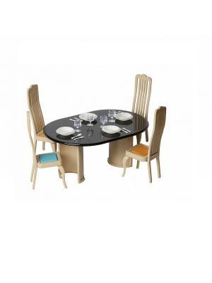 Набор мебели для столовой Коллекция Огонек. Цвет: черный, бежевый