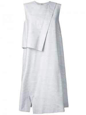 Платье с накладной панелью Enföld. Цвет: серый