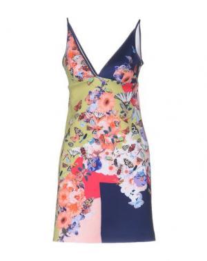 Короткое платье CLOVER CANYON. Цвет: светло-зеленый