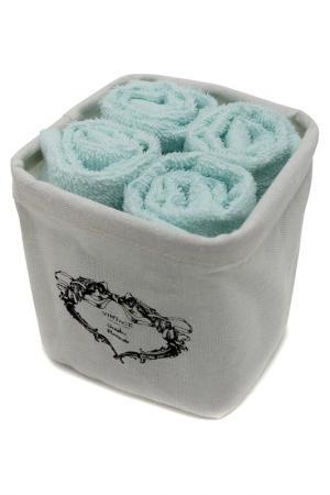 Комплект полотенец, 4 шт Daily by T. Цвет: мятный