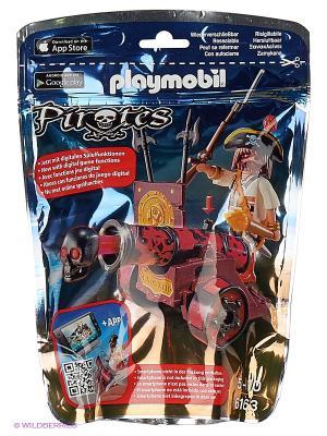 Пираты: Красная интерактивная пушка с пиратом Playmobil. Цвет: красный