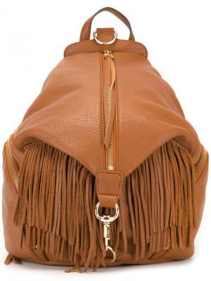 Рюкзак с бахромой Julian Rebecca Minkoff. Цвет: коричневый