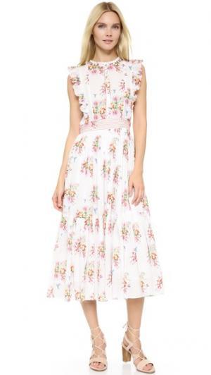 Платье в деревенском стиле Carolina K. Цвет: акварельные цветы