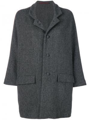 Пальто свободного кроя Daniela Gregis. Цвет: серый