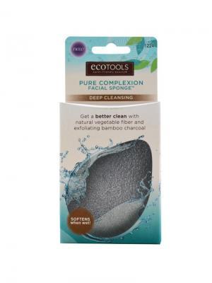 Спонж для глубокого очищения лица Complexion Sponge Deep Cleansing Ecotools. Цвет: черный