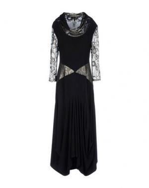 Длинное платье JOSEPH RIBKOFF. Цвет: черный