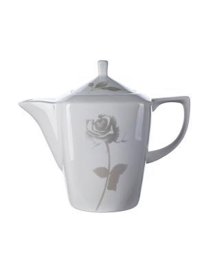 Чайник Рейчел (1100мл) Elff Ceramics. Цвет: белый