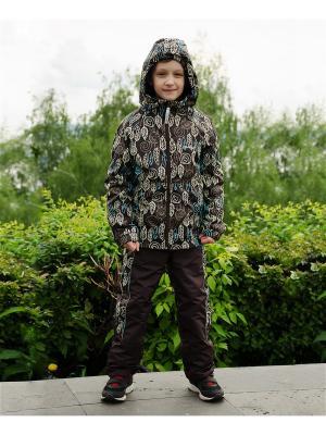 Куртка-ветровка МИКИТА. Цвет: темно-коричневый