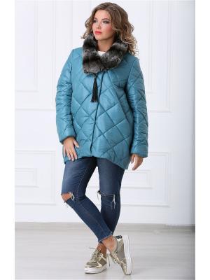 Куртка Lanicka. Цвет: бирюзовый