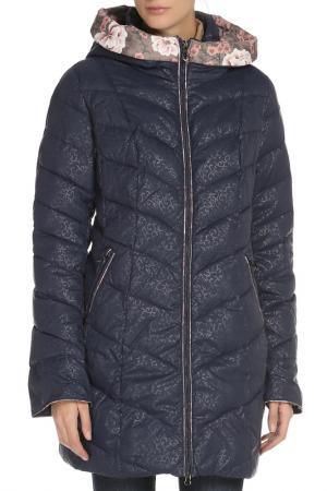 Полуприлегающее пальто с капюшоном Vlasta. Цвет: 3131 синий