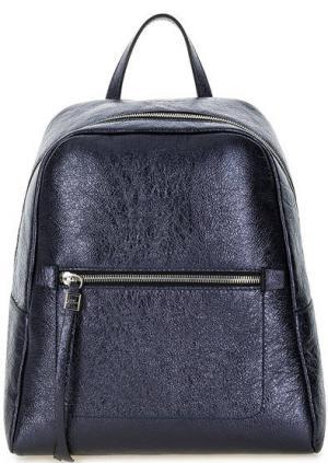 Синий кожаный рюкзак на молнии Gianni Chiarini. Цвет: синий