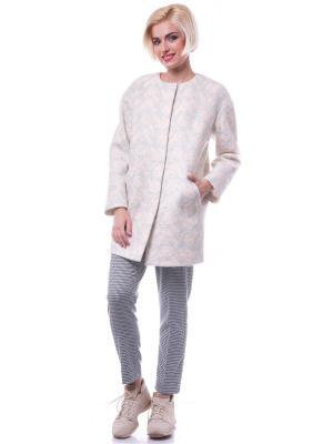 Пальто OKS by Oksana Demchenko. Цвет: бежевый, розовый
