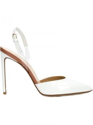 Туфли с ремешком на пятке Francesco Russo. Цвет: белый