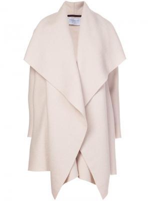 Драпированное пальто-плед Harris Wharf London. Цвет: телесный