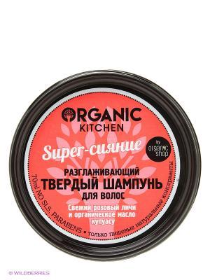 Шампунь твердый разглажив.д/волос Super-сияние 70мл Organic Shop. Цвет: черный