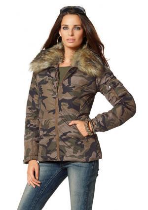 Стеганая куртка Laura Scott. Цвет: с рисунком