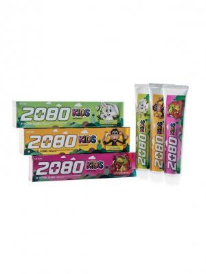 Набор Зубные пасты Dental Clinic 2080 Kids, Детские 3 штуки. Цвет: желтый, зеленый, розовый