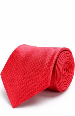 Шелковый галстук с узором Brioni. Цвет: красный