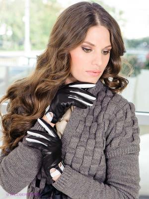 Перчатки Eleganse. Цвет: черный, белый
