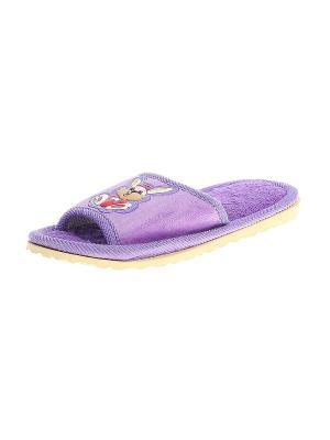 Тапочки домашние детские Migura. Цвет: фиолетовый, бежевый, красный, желтый, белый