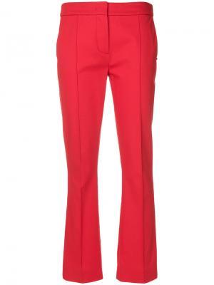 Укороченные расклешенные брюки Sportmax. Цвет: красный