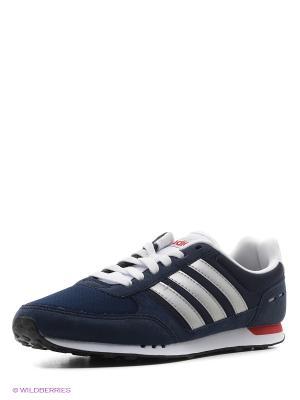 Кроссовки NEO CITY RACER Adidas. Цвет: темно-синий