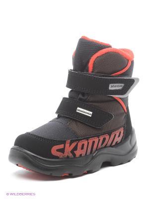Ботинки Skandia. Цвет: оливковый