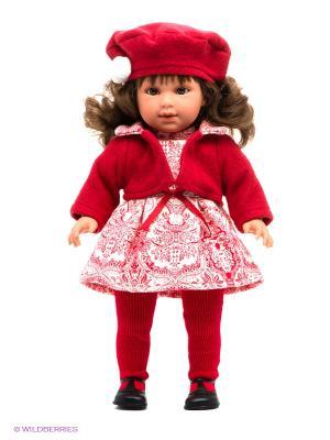 Игрушка Кукла Мартина, 40 см. Llorens. Цвет: красный
