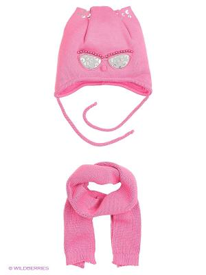 Шапка и шарф Ambra. Цвет: розовый