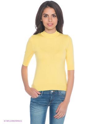 Джемпер Oodji. Цвет: желтый