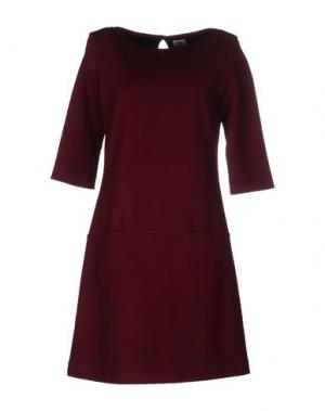 Короткое платье SIYU. Цвет: баклажанный