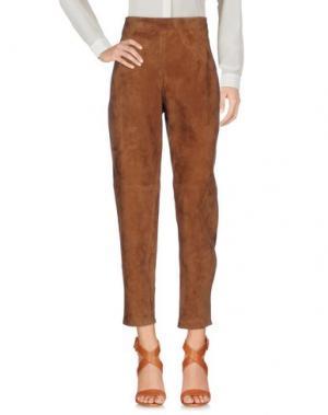 Повседневные брюки YVES SALOMON. Цвет: верблюжий